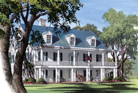 southern plantation house plans colonial plantation southern house plan 86178