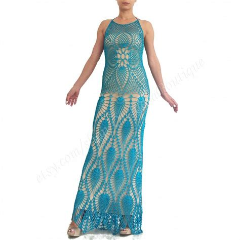 Crochet Evening Gown crochet maxi dress evening dress dress bohemian