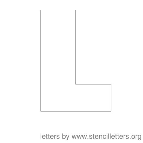 capital letter l template www imgkid com the image kid