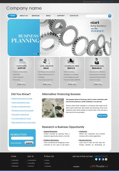 professional business website templates free psd templates free psd web templates
