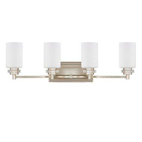 Gold Bathroom Vanity Lights Allen Co 4 Light Iced Gold Bath Vanity Light 9a164a The Home Depot