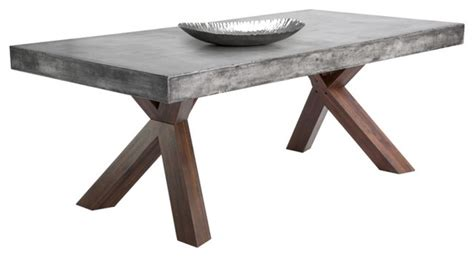 Faux Concrete Furniture by Hattie Concrete Edge Dining Table Industrial Dining