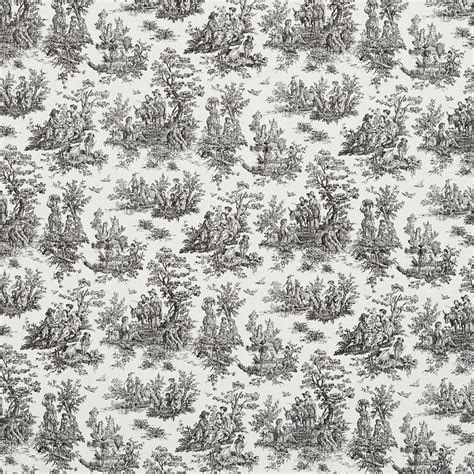 black and white upholstery fabric by the yard black and white toile pastoral cotton printed upholstery