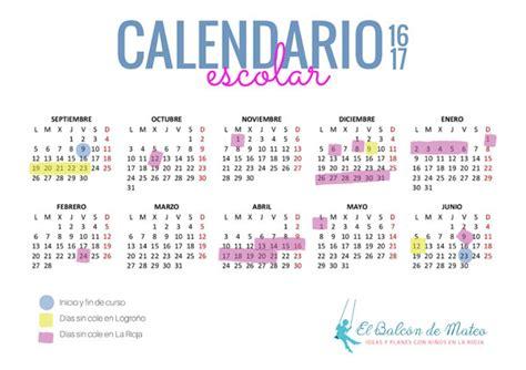 calendario escolar de la rioja 2015 2016 para imprimir calendario escolar de la rioja y logro 241 o 2016 2017 imprimir