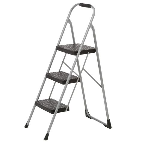 Ladders And Step Stools by Cosco 3 Step Steel Big Step Stool Ladder With Large Front