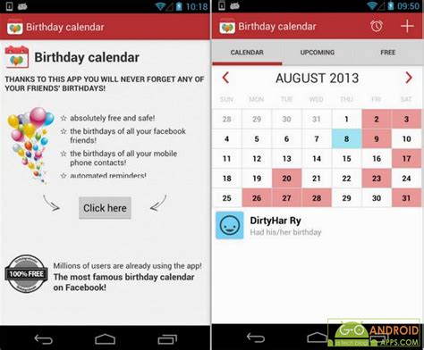Birthday Calendar Reminder Free Download