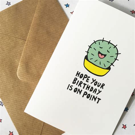 how to make an awesome card cactus birthday card cool birthday card by ladykerry