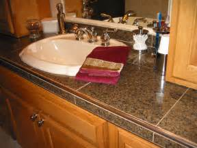 Tile Bathroom Countertop Ideas by Schluter Edge For Tile Countertops This Jury Is Still