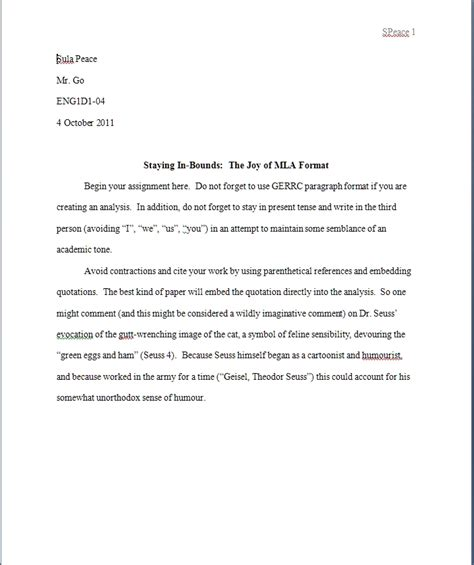 Mla Format Template Tryprodermagenix Org Mla Citation Template