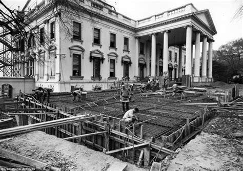 what year was the white house built fascinating black and white photographs show the truman