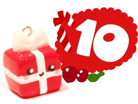 christmas gift kawaii christmas 10 polymer clay tutorial