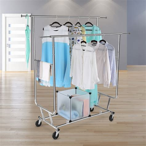 Hanging Clothes Rack Diy by Collapsible Heavy Duty Movable Garment Rack Diy Coat
