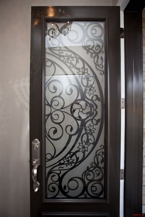steel door design steel door with contemporary design lasercut door insert
