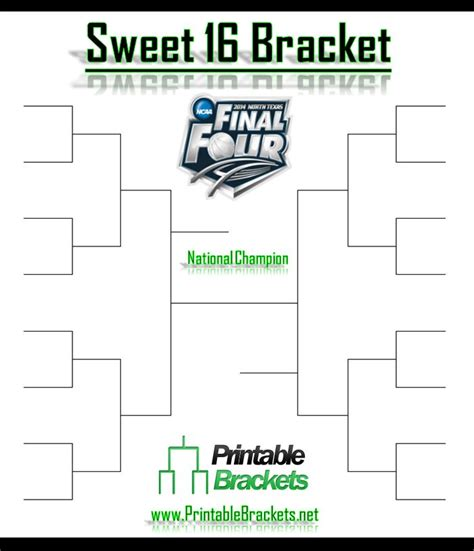 sweet 16 bracket template sweet 16 bracket sweet sixteen bracket