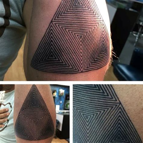 triangle pattern on arm 90 triangle tattoo designs for men manly ink ideas
