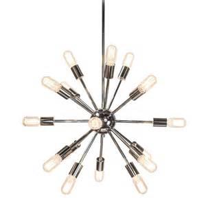 decor living sputnik 18 light polished nickel chandelier