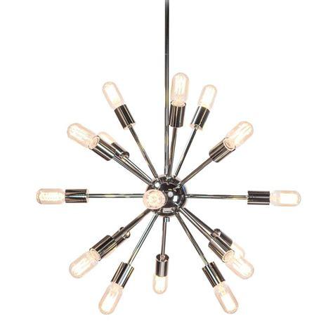 Decor Living Sputnik 18 Light Polished Nickel Chandelier 751C 32 The Home Depot