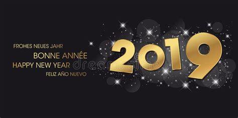 happy  year card languages  stock illustration illustration  card celebration