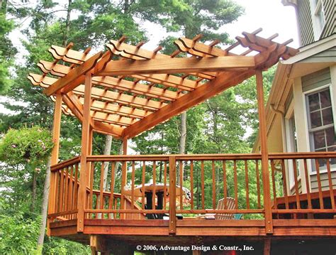 How To Build An Arbor Trellis mahogany corner pergola in stow ma suburban boston