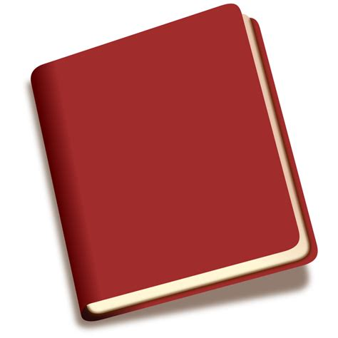 libro the red notebook clipart book icon