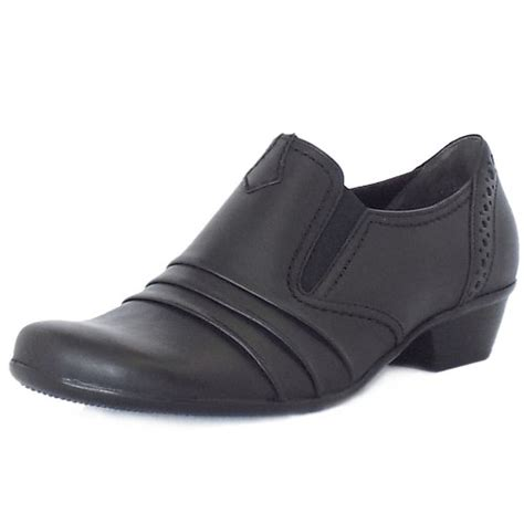 gabor comfort range gabor emerge comfortable everyday shoes in black mozimo