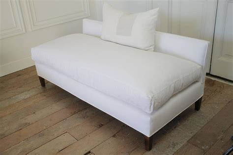 linen bench cushion mid century modern white linen upholstered bench with down