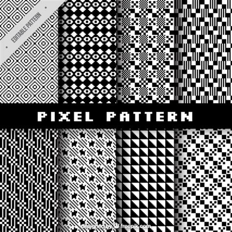 pixel pattern ai collection of pixel patterns vector free download