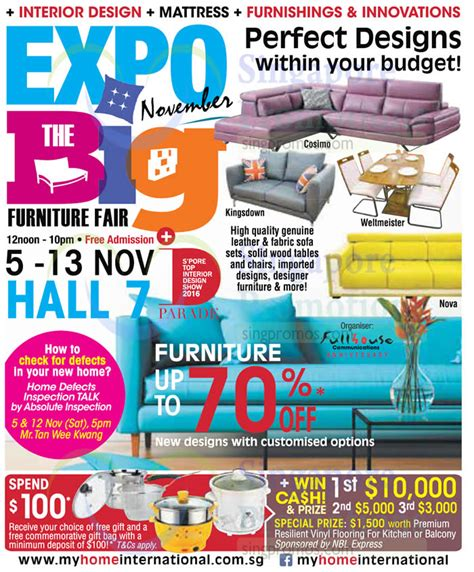 100 home design furniture fair 2016 expo big furniture fair at singapore expo from 5 13 nov 2016