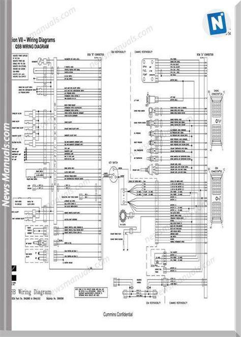 cummin qsb wiring diagram  ecm