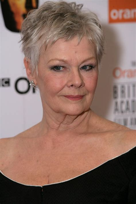 show back of judy dench hairstyle more pics of judi dench evening dress british academy