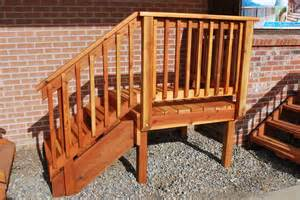 Wood Handrail For Stairs Deck Stairs Best Images Collections Hd For Gadget