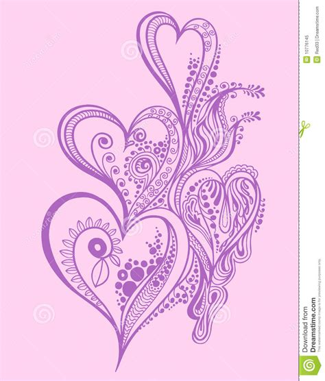 henna tattoo designs heart henna doodle design stock vector image of scribble