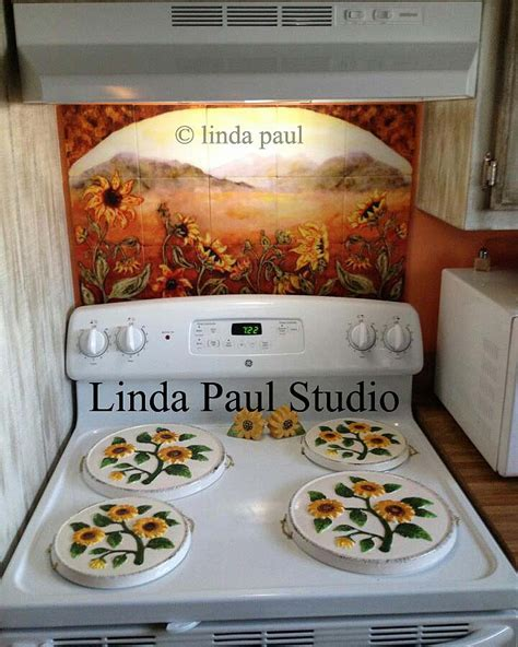 sunflower kitchen ideas sunflower kitchen decor tile murals western backsplash