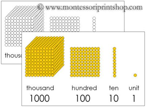 Printable Montessori Golden Beads | golden beads control chart printable montessori math