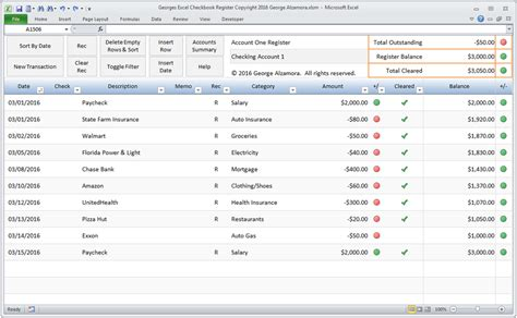 excel checkbook register spreadsheet buy excel templates