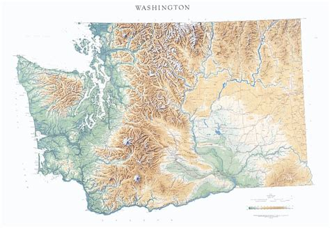 a physical map of washington physical map of washington state get domain pictures