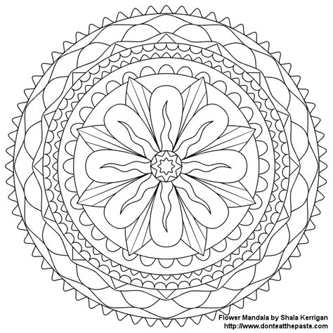 mandala coloring pages of flowers don t eat the paste mandalas coloring pages