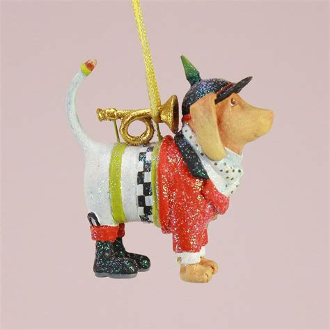 patience brewster mini bugler beagle ornament wooden