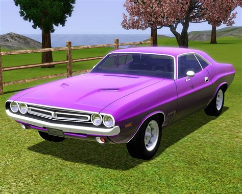 dodge xom fresh prince creations sims 3 1971 dodge challenger