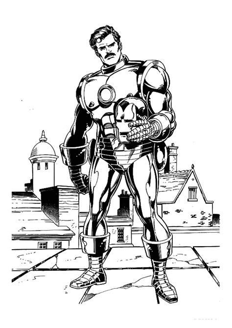 free coloring pages of tony stark iron man