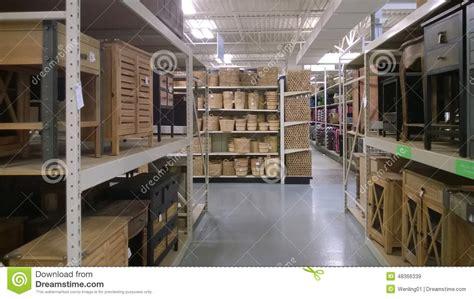 Garden Ridge Storage Furniture And Storage Basket On Shelves Selling Editorial