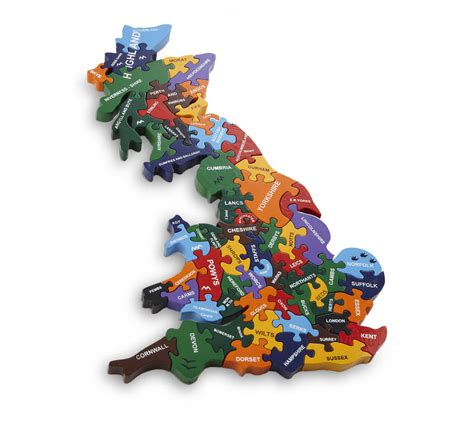 Handmade Britain - handmade wooden map of britain puzzle by wood like to play