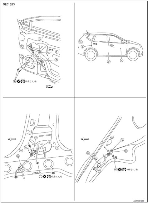 Nissan Rogue Service Manual: Side air bag (satellite