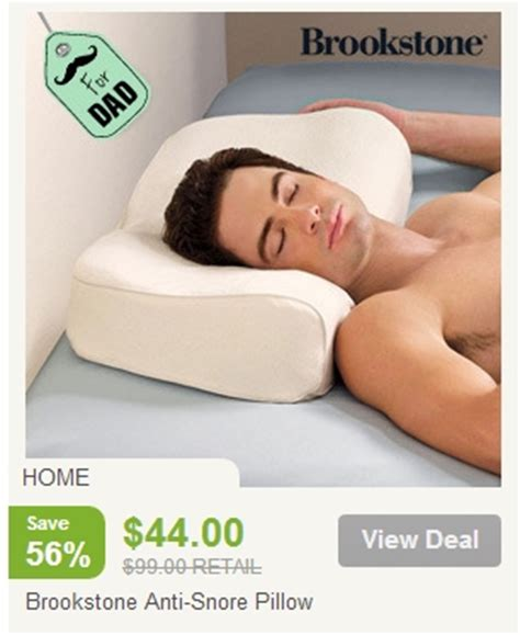 brookstone anti snore pillow 36 shipped from 99