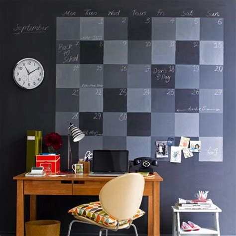 diy chalkboard wall calendar 20 cheap ideas to create diy calendars for unique wall
