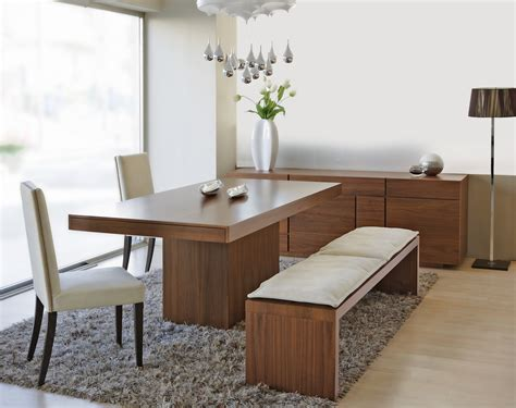 Modern Dining Table Bench Dining Room Table With Bench Seat Homesfeed
