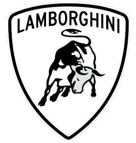 lamborghini logo black and white acsl logo