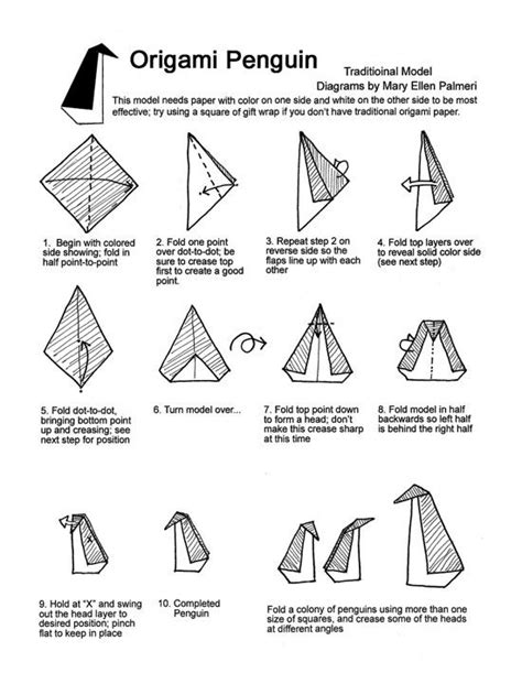 how do you make a diagram how to make an origami penguin quora