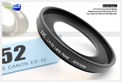 Jjc Lens Metal Replaces Canon Es 52 For Ef M 18 55mm F35 55 lens replaces es 52 for canon ef 40mm f 2 8 stm lens seedcamera
