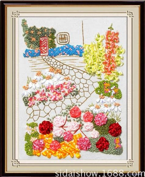 ribbon embroidery flower garden flower garden ribbon embroidery sets painting handcraft